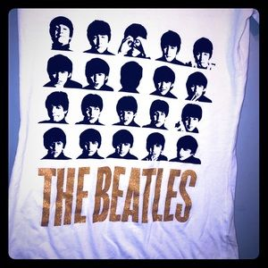 THE BEATLES ladies v-neck fitted juniors t-shirt
